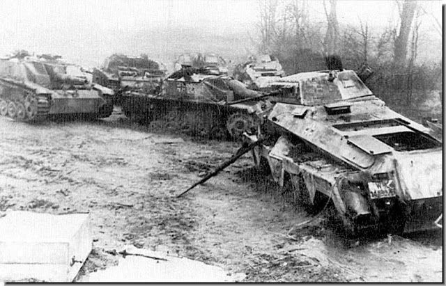 Image result for ww2 DESTROYED GERMAN VEHICLES