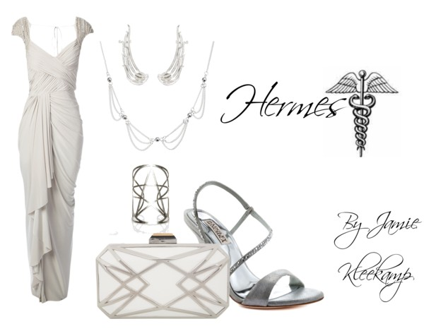 A formal look inspired by the greek god: Hermes. Fans of Greek Mythology or the Percy Jackson series would like this look