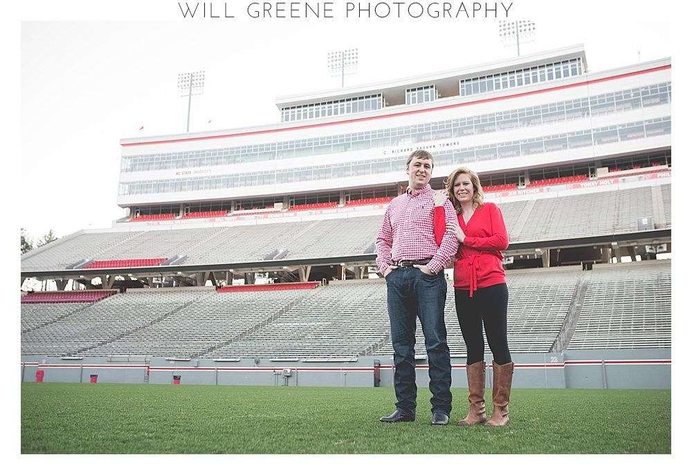 Gorgeous NC State University engagement session, Will Greene Photography