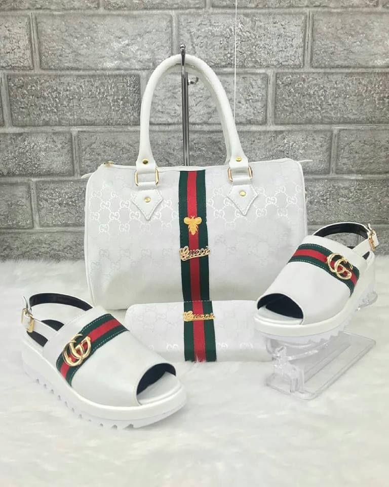 Gucci 2406 Çanta Sandalet Cüzdan Kombin Handbags Purses And