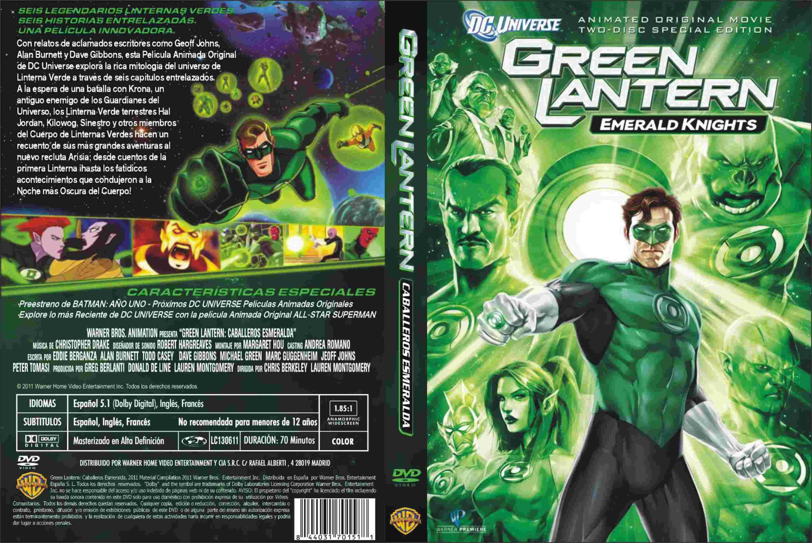 Green Lanter Emerald Knight Formato Dvd Comics Dc Comics Portadas