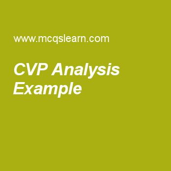 Cvp Analysis Example  Cost Accounting    Cost Accounting