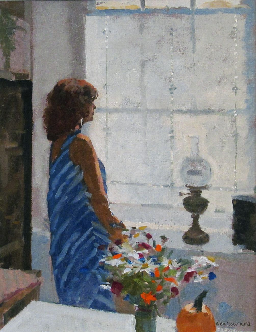 Kenneth Howard Obe Ra 1932 Impressionist Plein Air Painter Ken Howard Window Art Summer Flowers