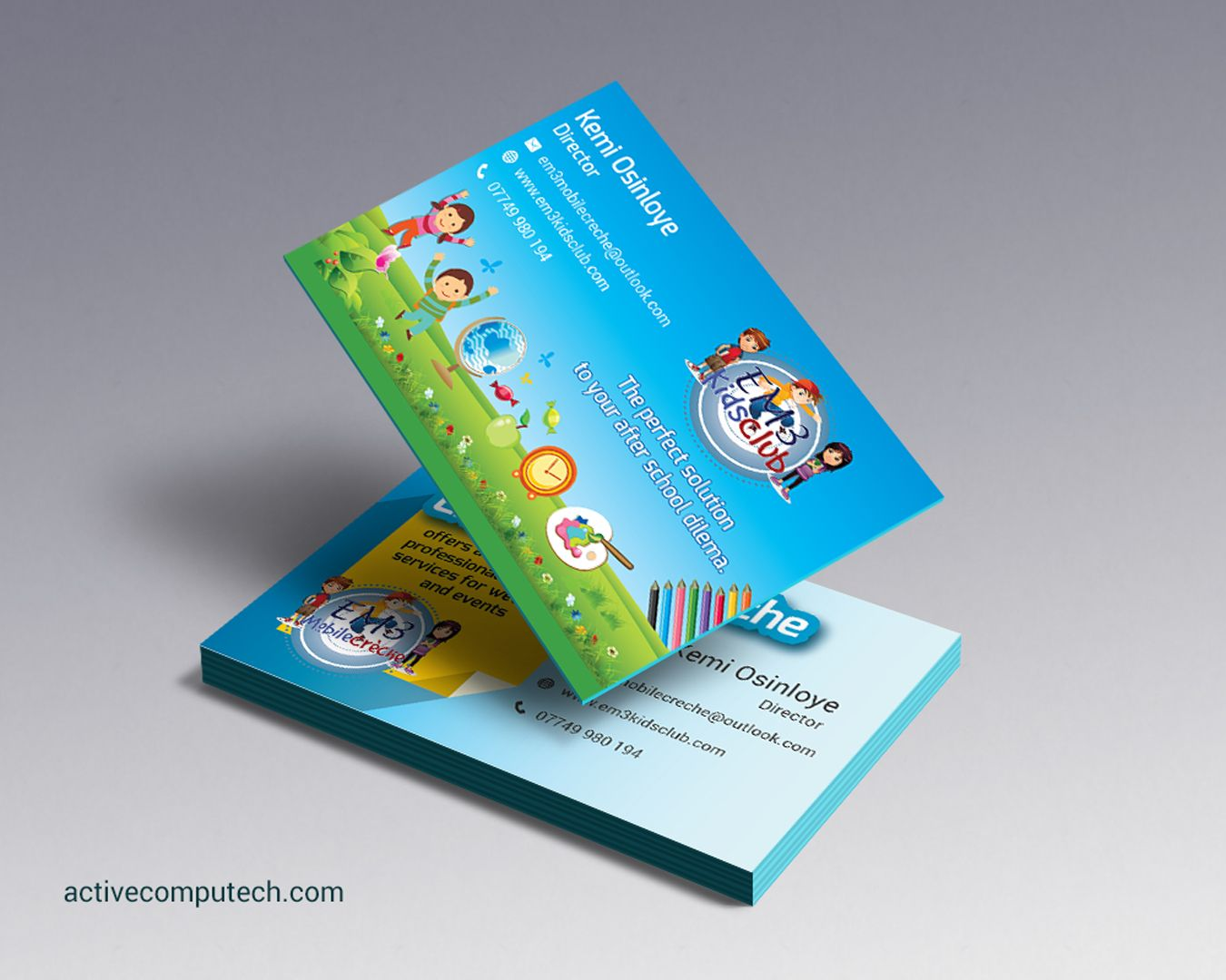 School Kids Fun Business Card Designs http://activecomputech.com ...