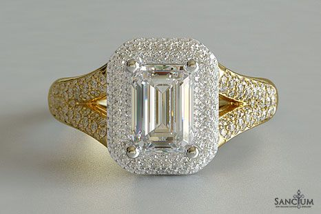 Custom Fine Jewellery Design New Zealand Yellow Gold Emerald Cut