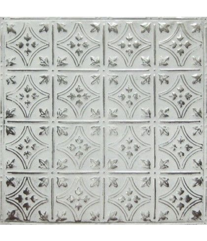 style three white washed silver american tin ceiling backsplash - American Tin Ceilings