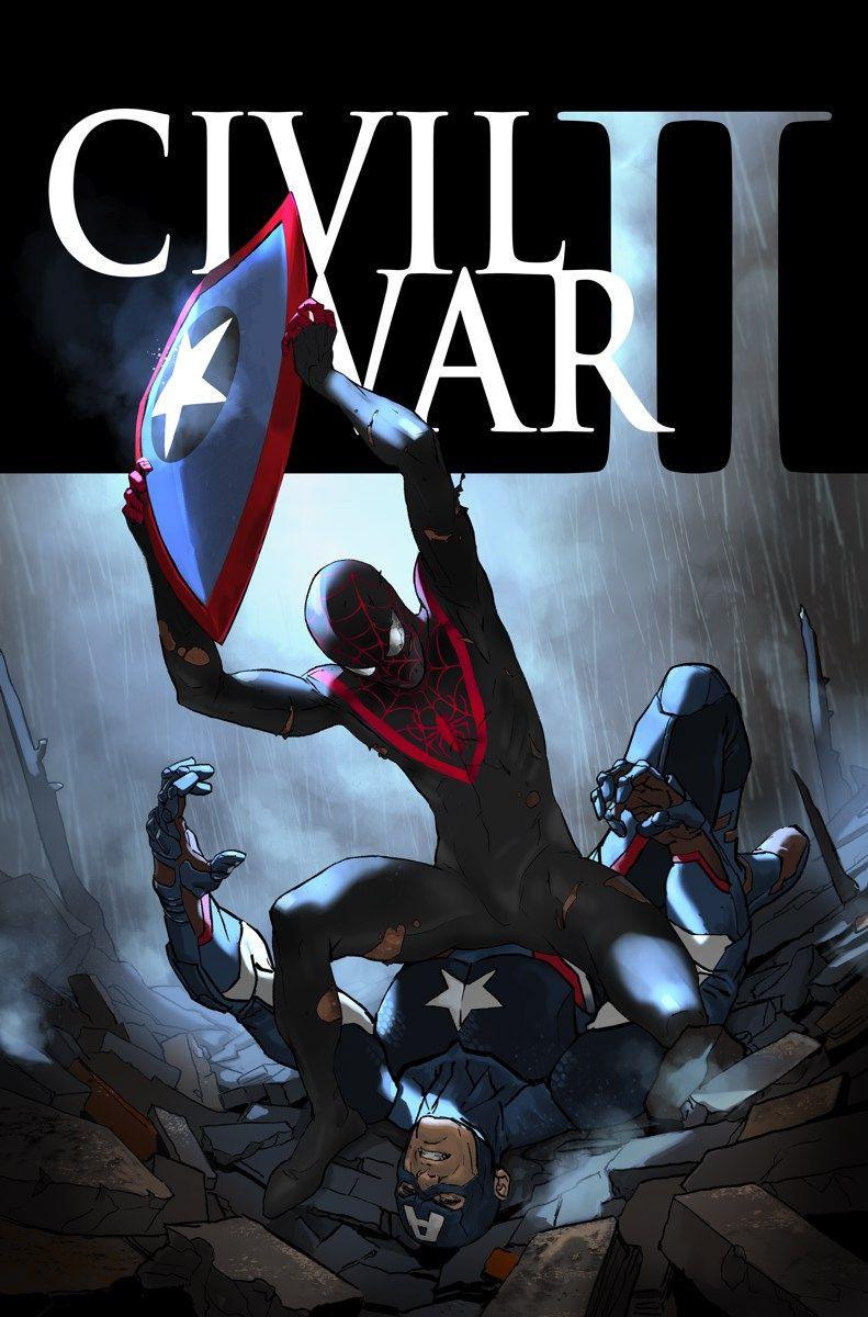 #Ultimate #Spiderman #Miles #Morales #Fan#Art. (CIVIL WAR II #6 OF 7 Variant Cover) By: Michael Cho. (THE * 5 * STÅR * ÅWARD * OF: * AW YEAH, IT'S MAJOR ÅWESOMENESS!!!™)[THANK Ü 4 PINNING!!!<·><]<©>ÅÅÅ+(OB4E)