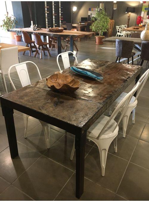 Tavolo in ferro stile industriale PARKER   Tavolo legno ...