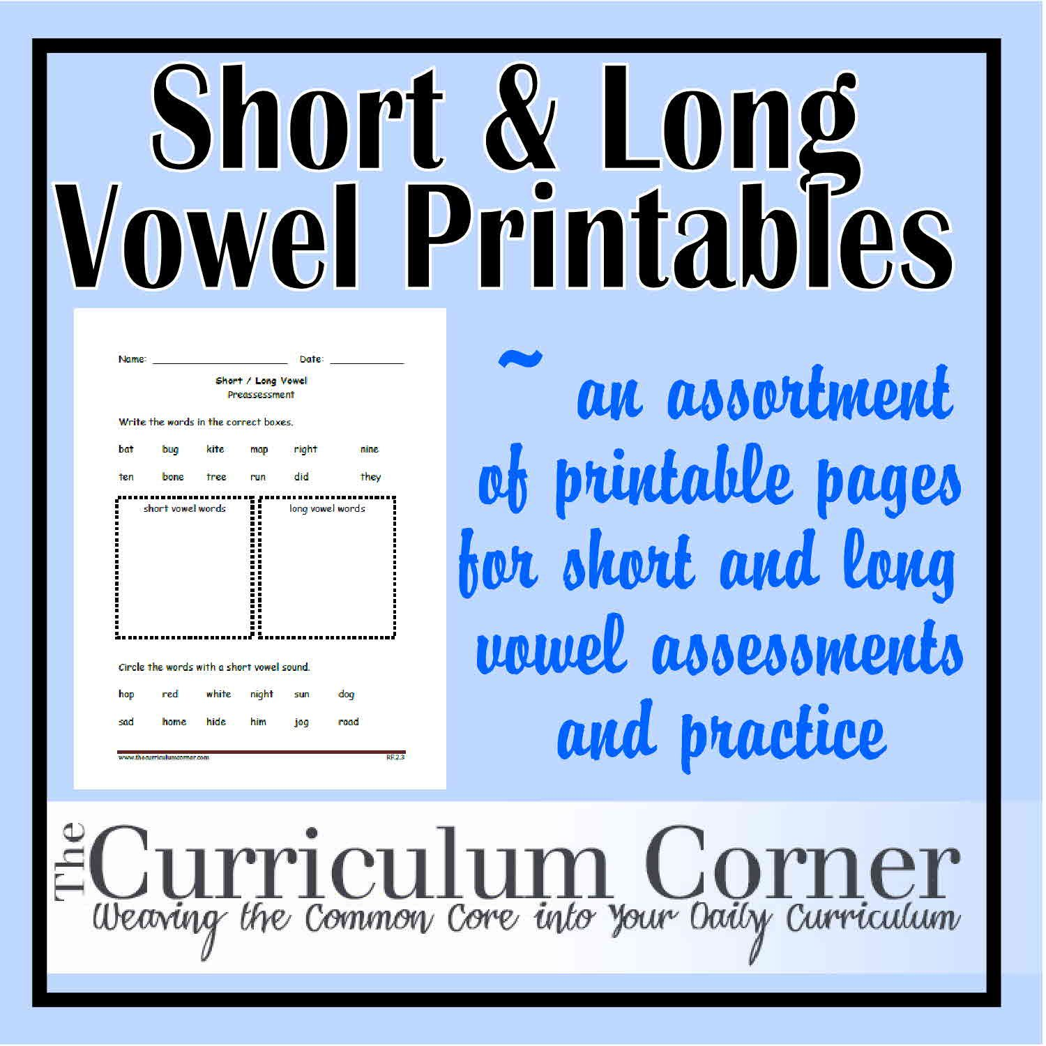 worksheet Short Vowel Sound Worksheets short and long vowel sound printables sounds vowels if your students need practice with here are