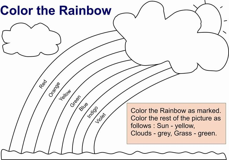 Best Photos Of Rainbow Color Worksheets For Kindergarten Free