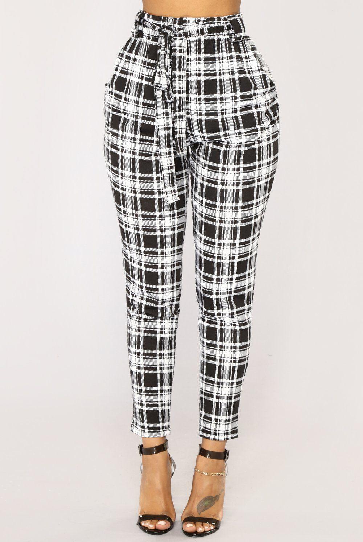 1cb4e5551bae0 Kristy Plaid Pants - Black/White | Christmas List 2018 | Plaid pants ...