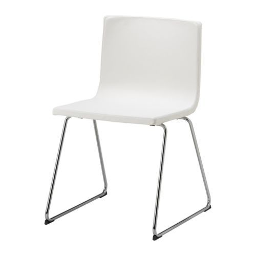 White Chair Ikea Madison Park Cody Open Back Accent Bernhard Chrome Plated Kavat Mjuk Flexibility