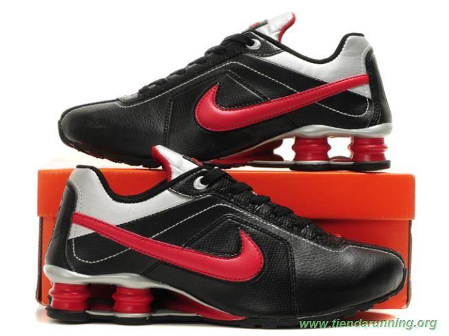 online store eaf74 4c33d Rojo Negro   Blanco Nike Shox R4 R4-004 Hombre tienda zapatillas running