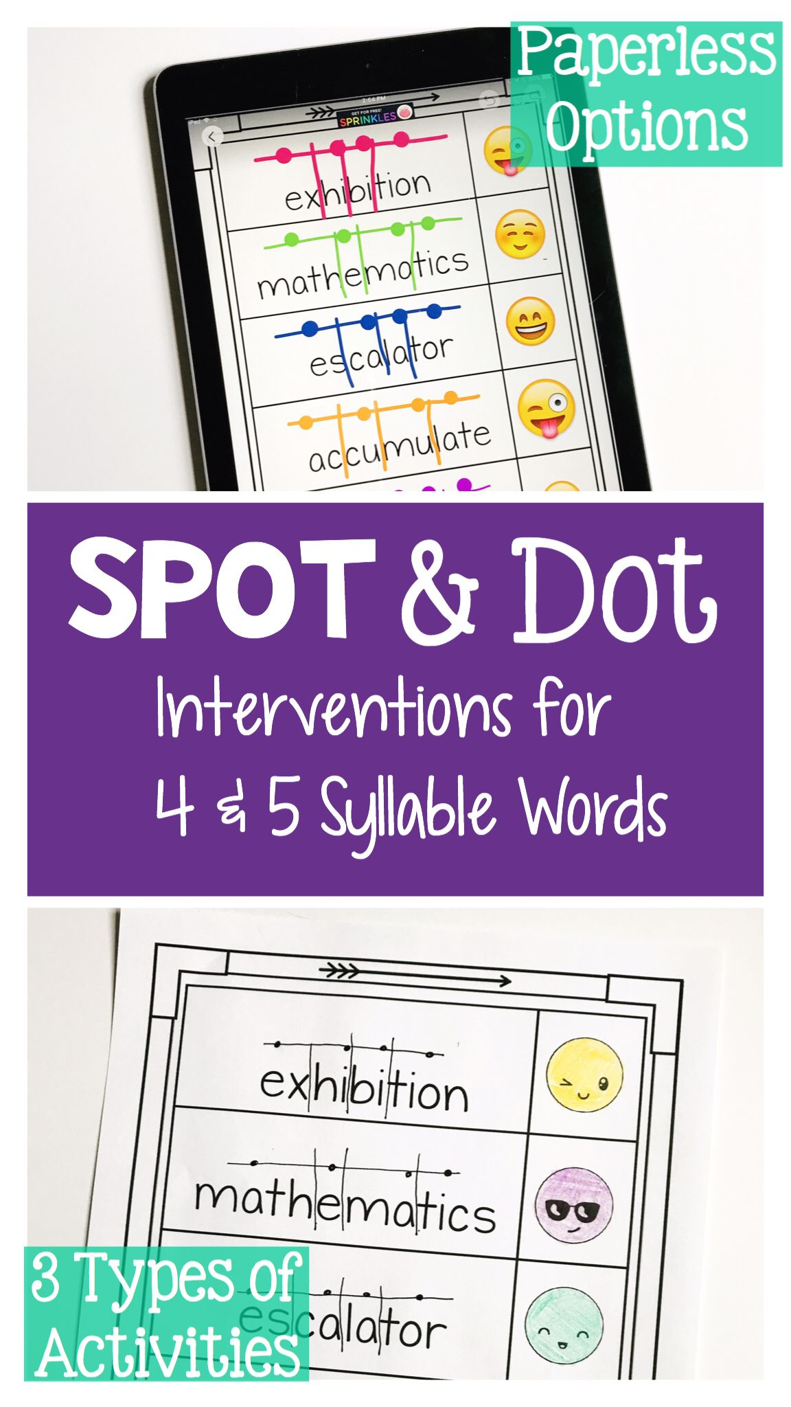 Reading Intervention Activities For Multisyllabic Words