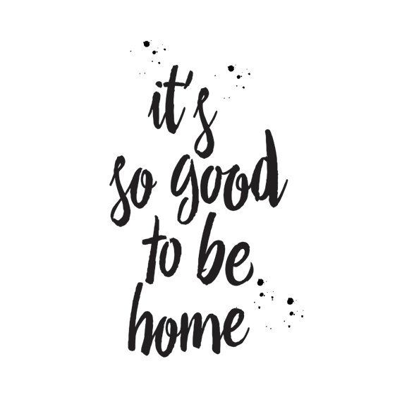 Printable Word Art Scandinavian Poster Its So Good To Be Home