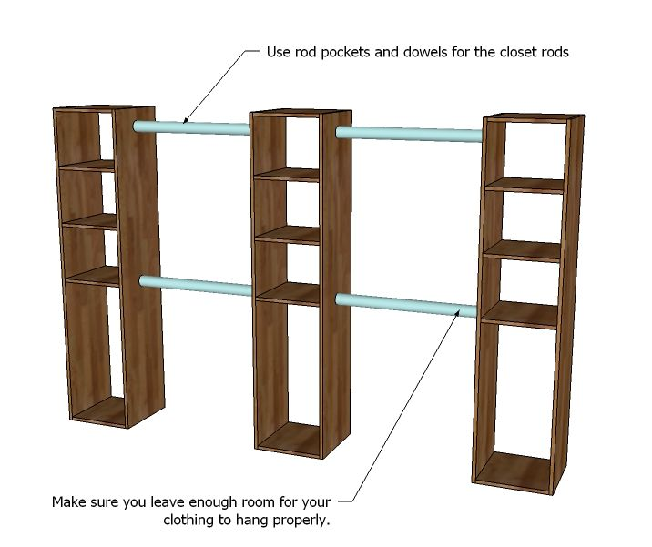 ana white build a master closet system free and easy diy project rh pinterest com