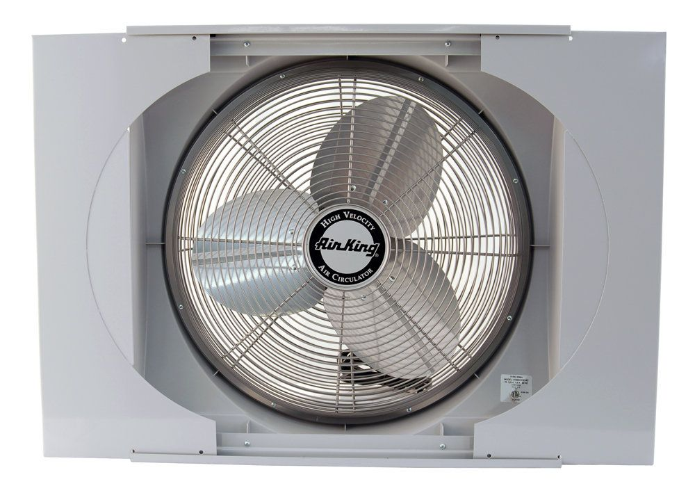 View The Air King 9166 20 Inch 3560 Cfm Whole House Window Fan
