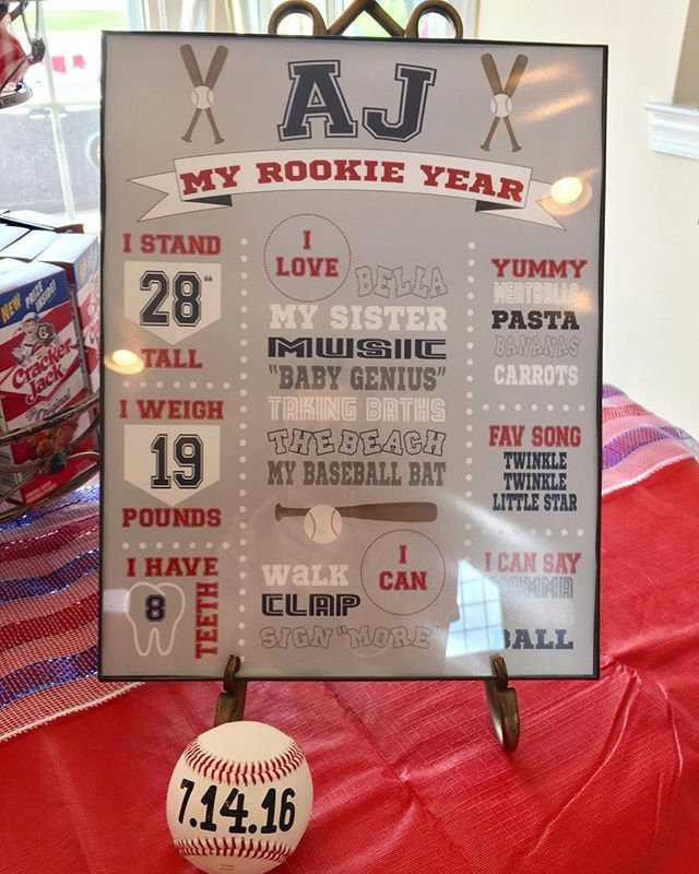 "Weddings by Taylor on Instagram: ""I love how Amy used the baseball for her son's 1st birthday party! #baseball #firstbirthday #1stbirthday #customgifts #baseballgift…"""