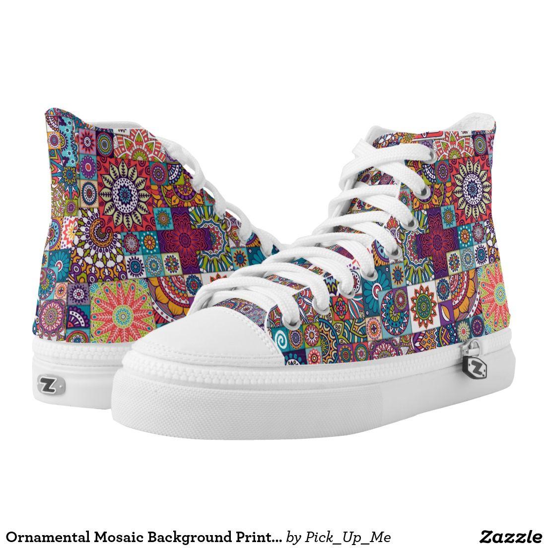 a93b00ba7f9 Ornamental mosaic background printed shoes tennis shoes converse jpg  1104x1104 Mosaic print shoes