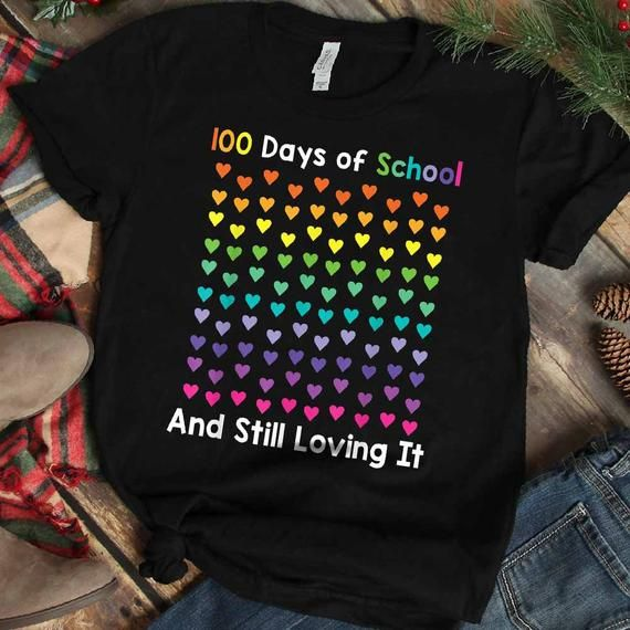 Happy 100th Day of School Teacher Shirt   100 Days of School Shirt   Happy 100th Day of School Shirt #100daysofschoolshirt