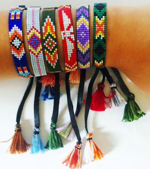 Loom Beaded Bracelet by Gianystyle on Etsy