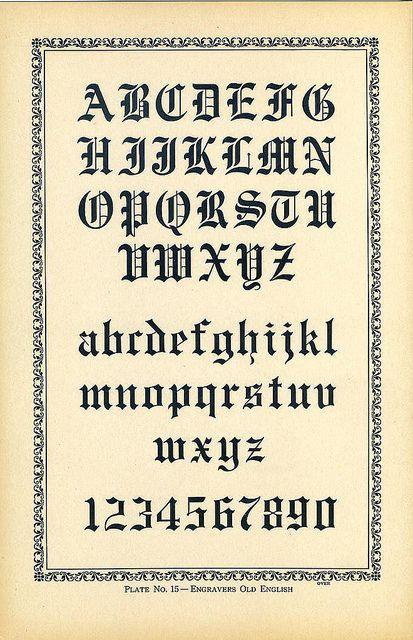 Engravers Old English Type Specimen