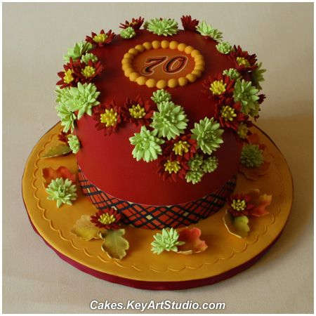 Fall Birthday Cake Fall birthday Birthday cakes and Cake