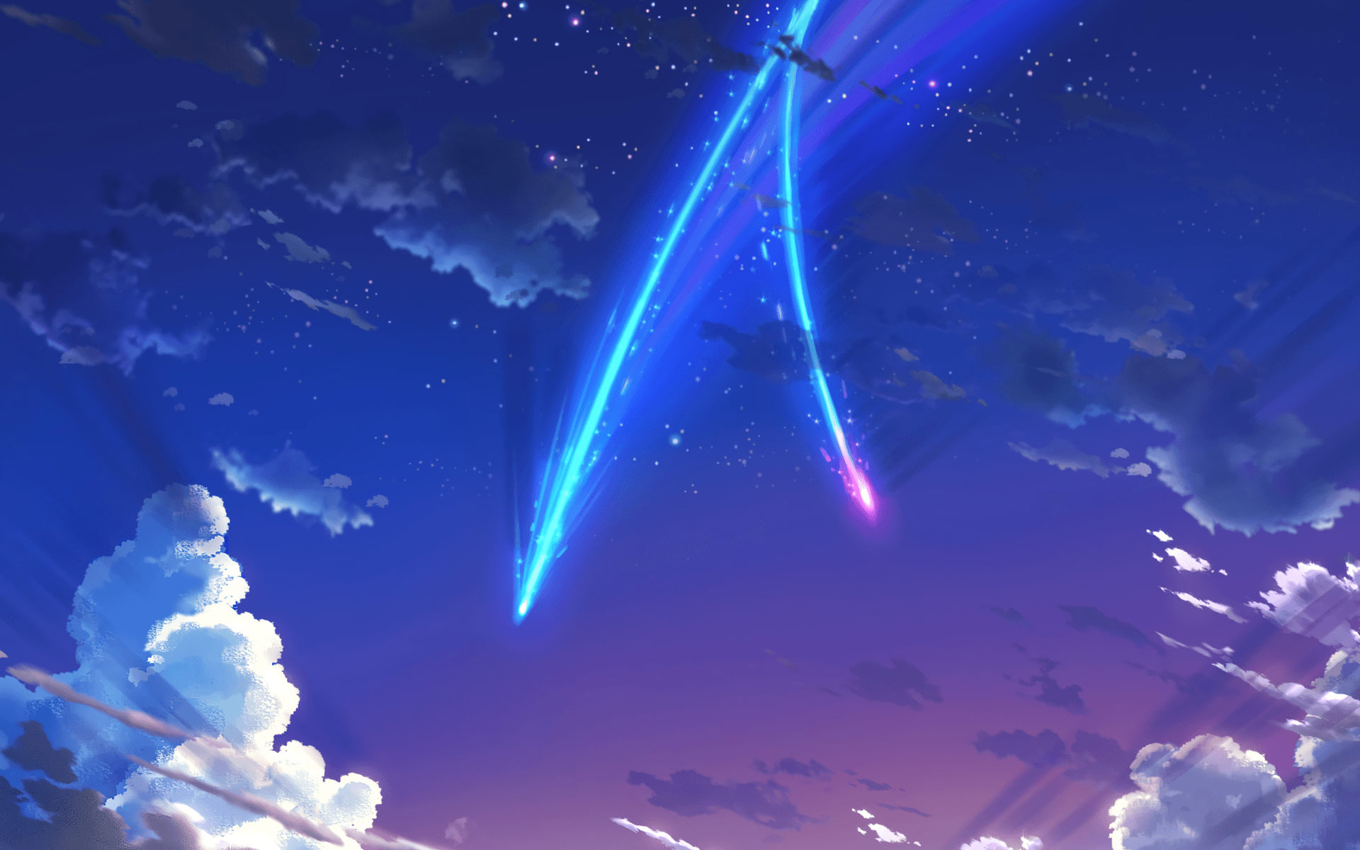 Kimi No Na Wa Hd Wallpaper 1920x1080 Your Name Anime Landscape Wallpapers Top Free Your Name Downl In 2020 Name Wallpaper Your Name Wallpaper Kimi No Na Wa Wallpaper