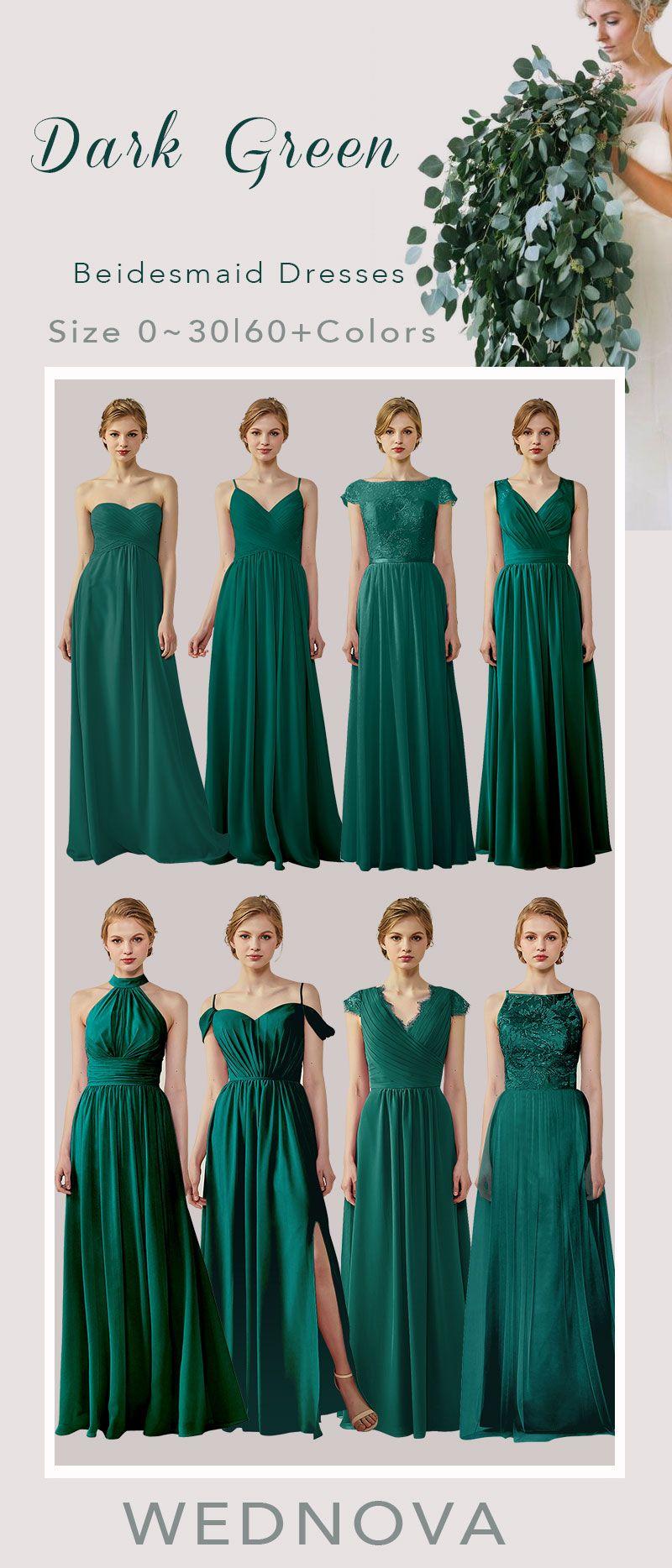 2018 Dark Green Bridesmaid Dresses Chiffon With Lace Beautiful Style Dresses Sweetheart Dress For All Size Weddingdresses Sweetheart Bridesmaid Svadba Dizajn