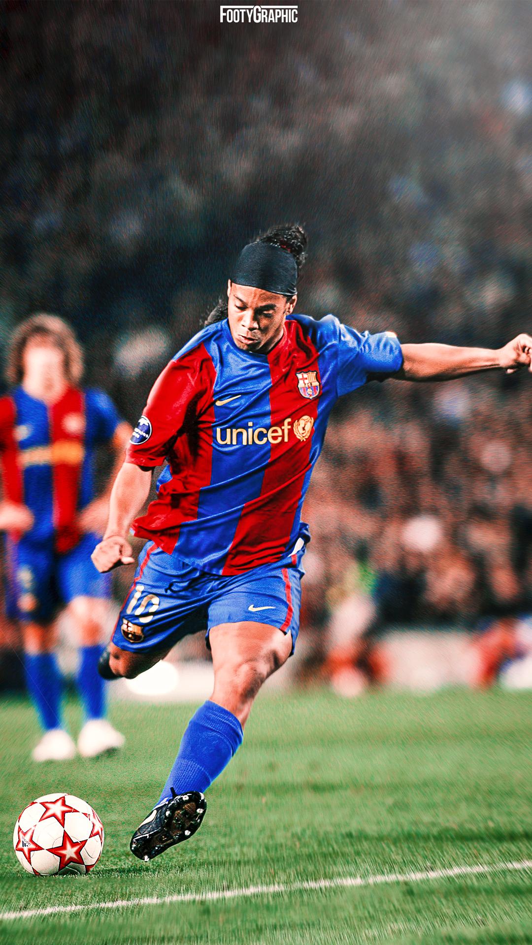 Ronaldinho Footygraphic Football Lockscreens And