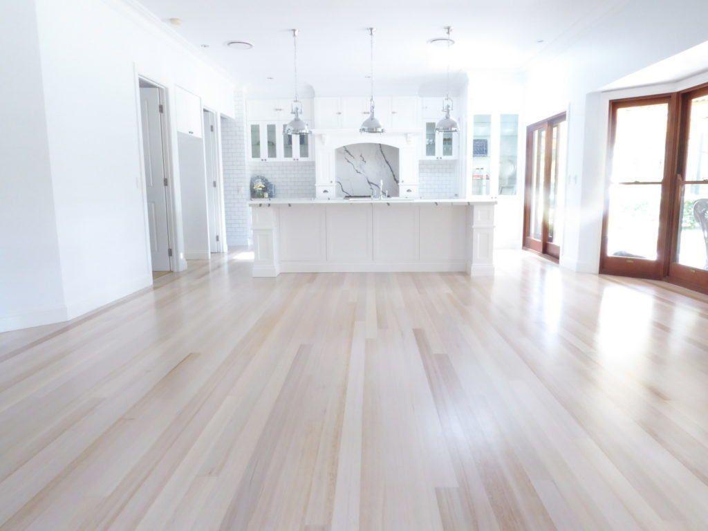 Tasmanian Oak Flooring After Restoration Of Sanding White Wash And