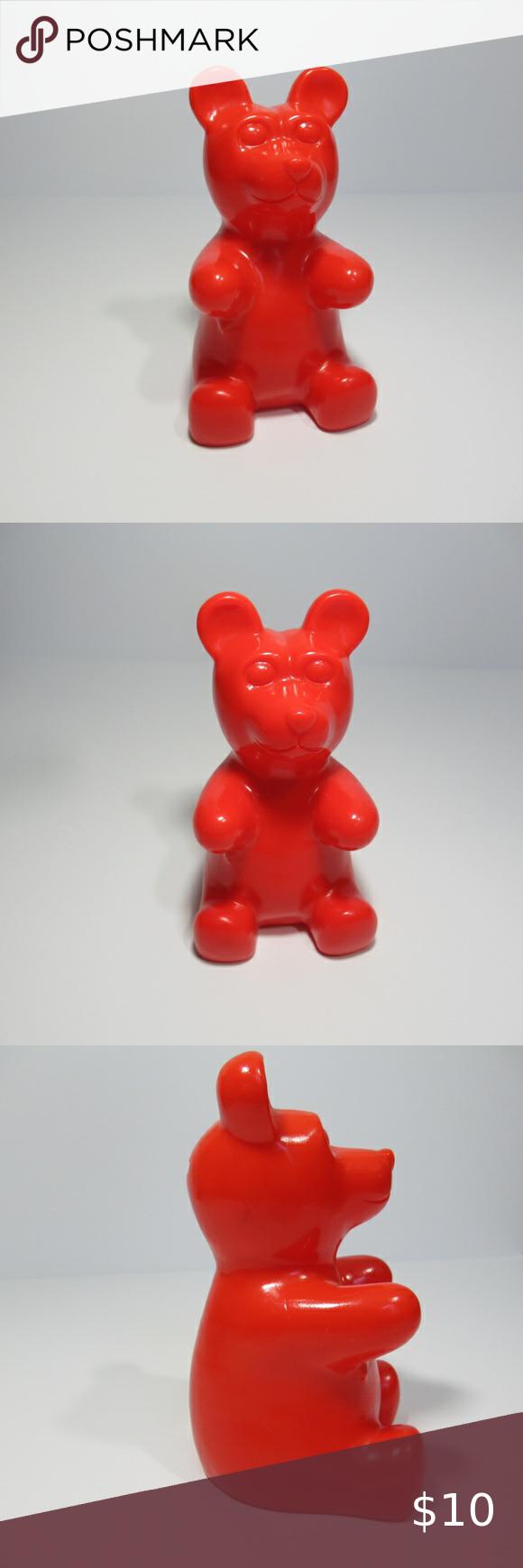 Red Gummy Bear Coin Bank Decor Gummy Bears Gummies Decor