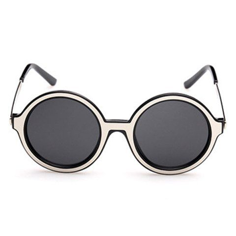 54a5c39746 Fashionable Simple Round Full Frame Sunglasses For Women