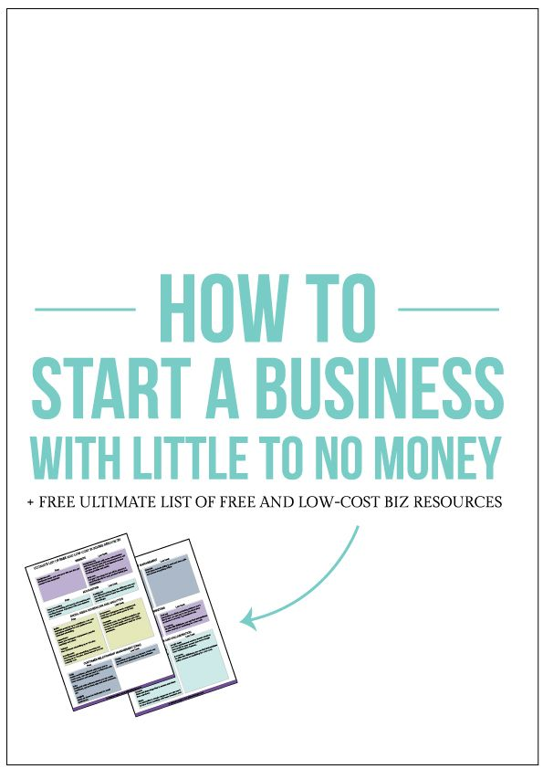 How To Start A Business With Little To No Money  Business And