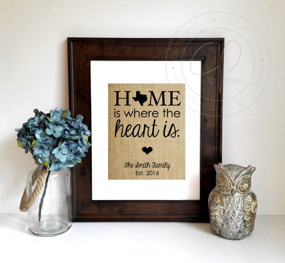 Personalized House Warming Gift New Home Housewarming Is Where The Heart