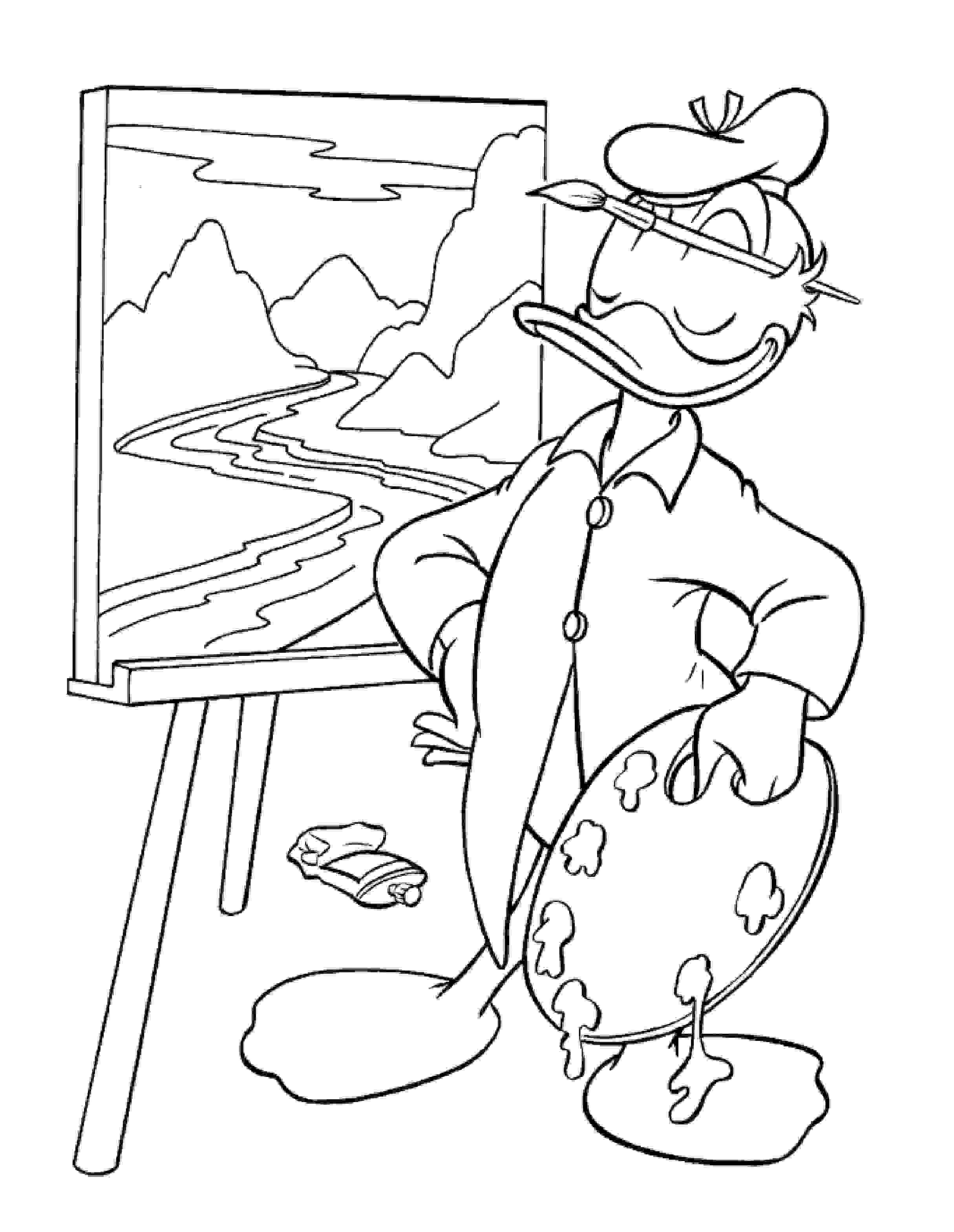 Donald Duck Pictures to Color   It\'s Donald Duck Day!   Pinterest