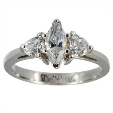 Marquise Diamond Engagement Ring With Trillions 1 2ct