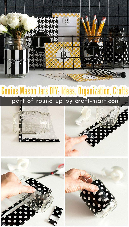 Simply Genius Mason Jars Diy Ideas Organization Crafts Craft Mart Mason Jar Diy Jar Diy Mason Jars