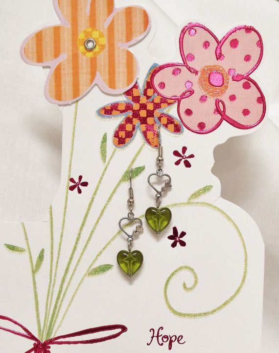 Two hearts earrings by 5DogsDesigns on Etsy