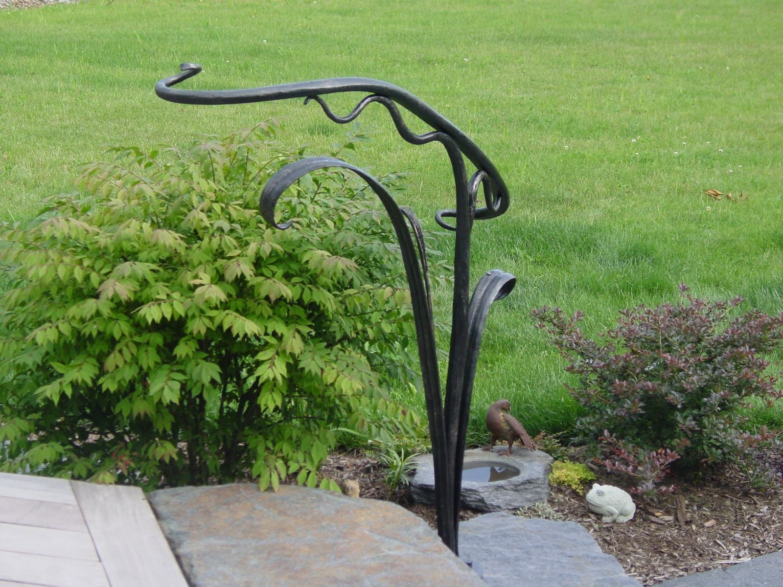 Custom Made Sculptural Hand Railing With Images   Wrought Iron Hand Railing For Steps