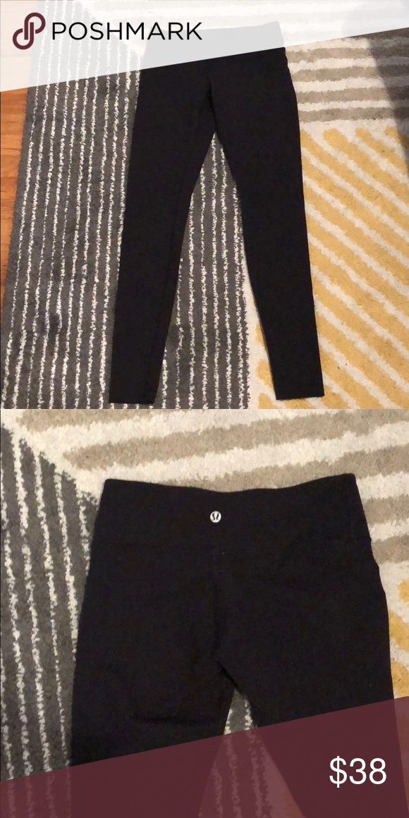 Lululemon Leggings Black Size 6 Lululemon Leggings Black Black Leggings Lululemon Leggings