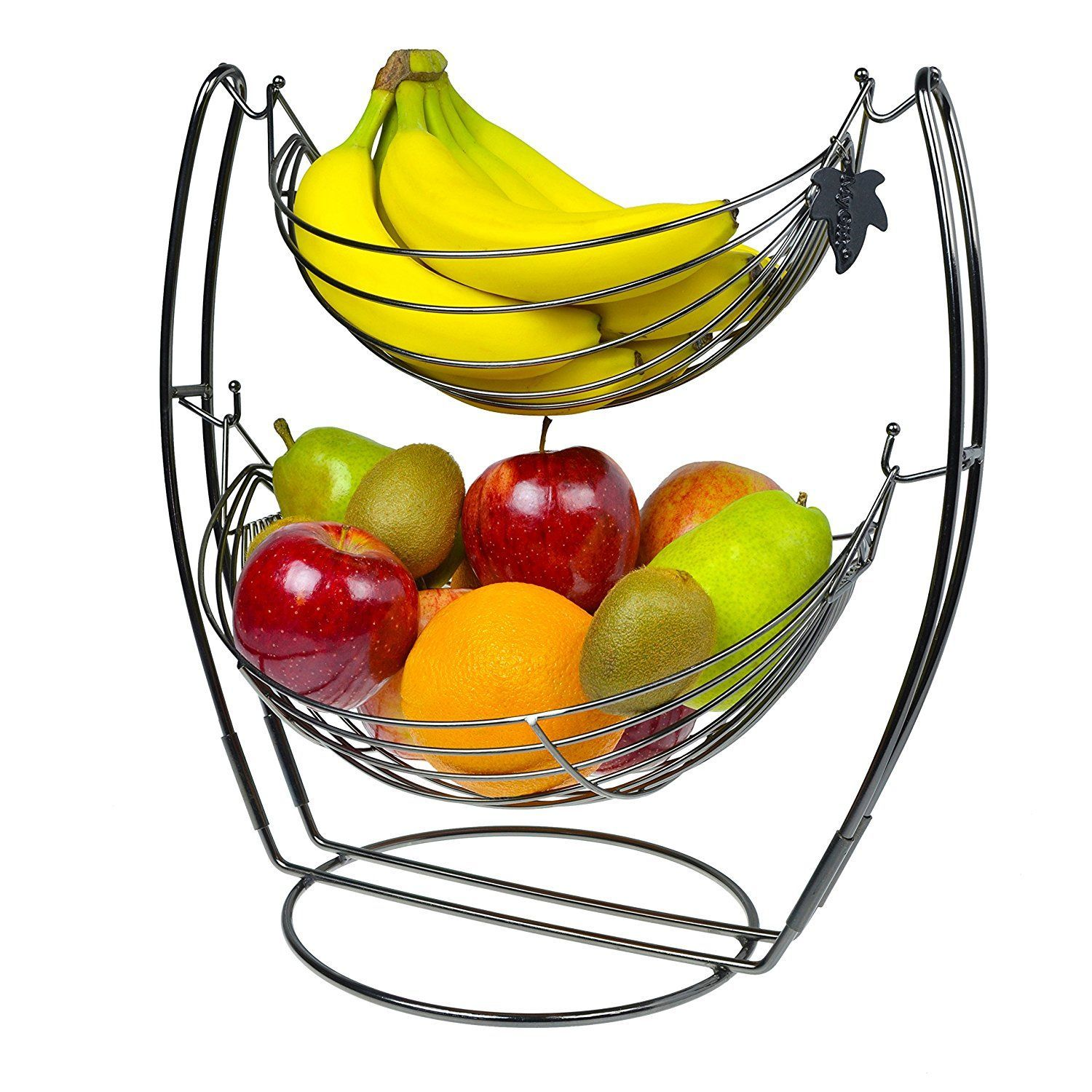 Amazon.com - Chrome Double Hammock 2 Tier Fruit / Vegetables ...