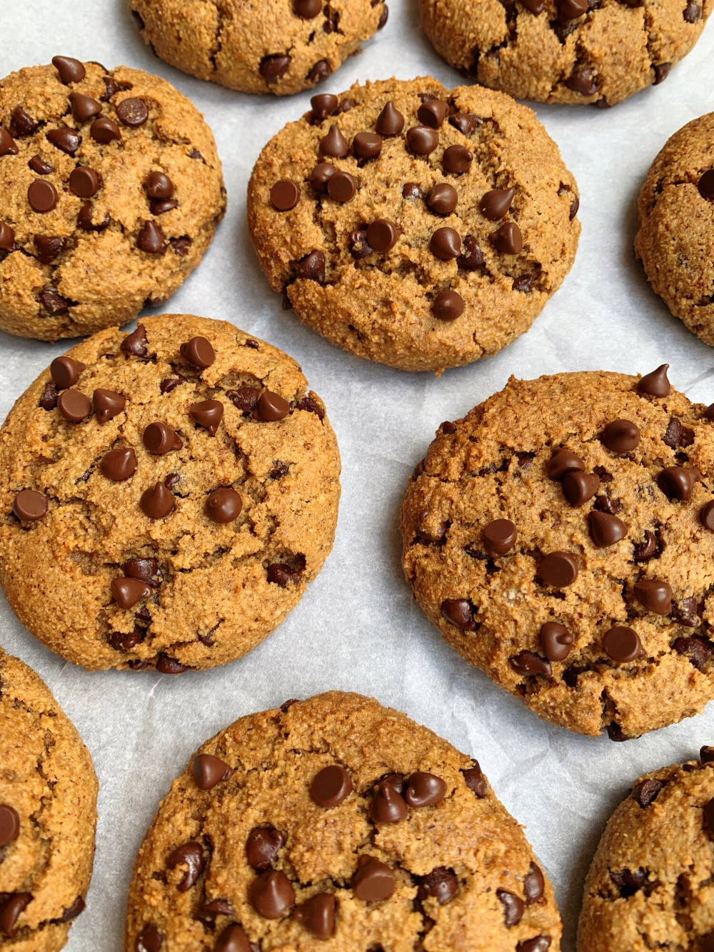 Healthy Chocolate Chip Cookies Chen S Plate Healthy Chocolate Chip Cookies Healthy Baking Desserts Healthy Chocolate
