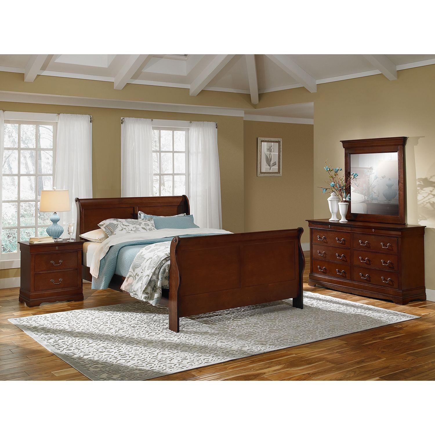 neo classic 6 piece bedroom set with nightstand dresser and mirror rh pinterest com