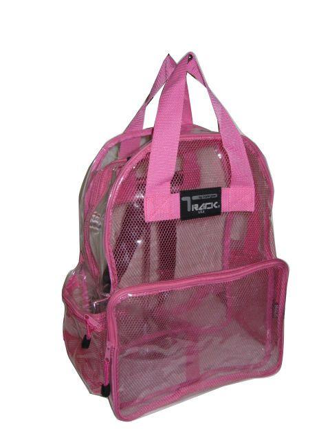 12fa880fa2e6 Details about Clear Backpack Pvc Plastic Heavy Duty Bag School ...