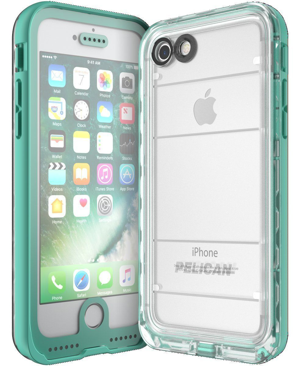 huge discount 6198f cd0a6 Pelican Marine Waterproof iPhone 7 Case (Teal/Clear) | iphone 7 case ...