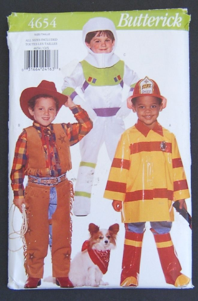 19b6199f Butterick 4654 Halloween Costume Pattern Buzz Lightyear Woody Uncut All  Sizes #Butterick Sc 1 St Pinterest
