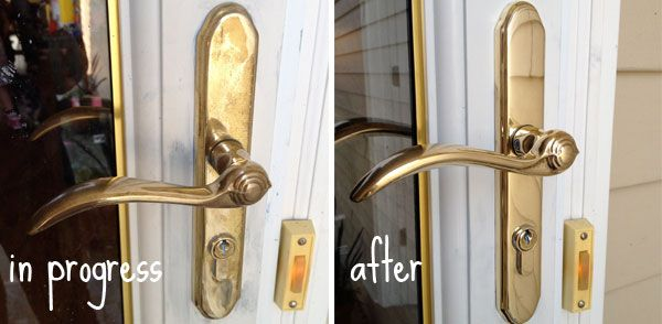 How To Rescue Cheap Plated Brass Door Hardware Blue Magic 400