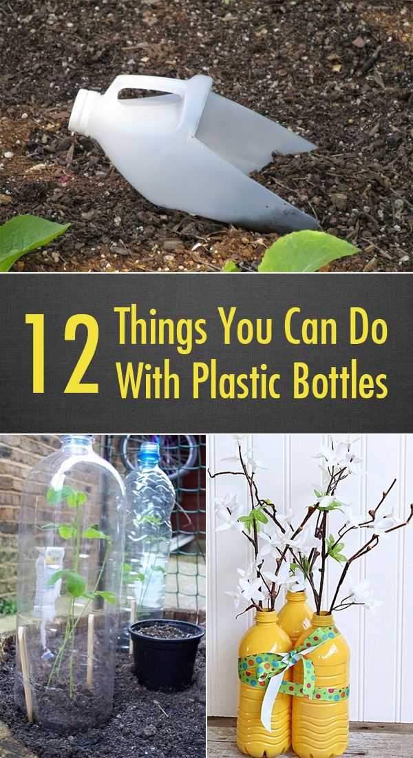 12 things you can do with plastic bottles pinteres for Things that can be made out of plastic bottles