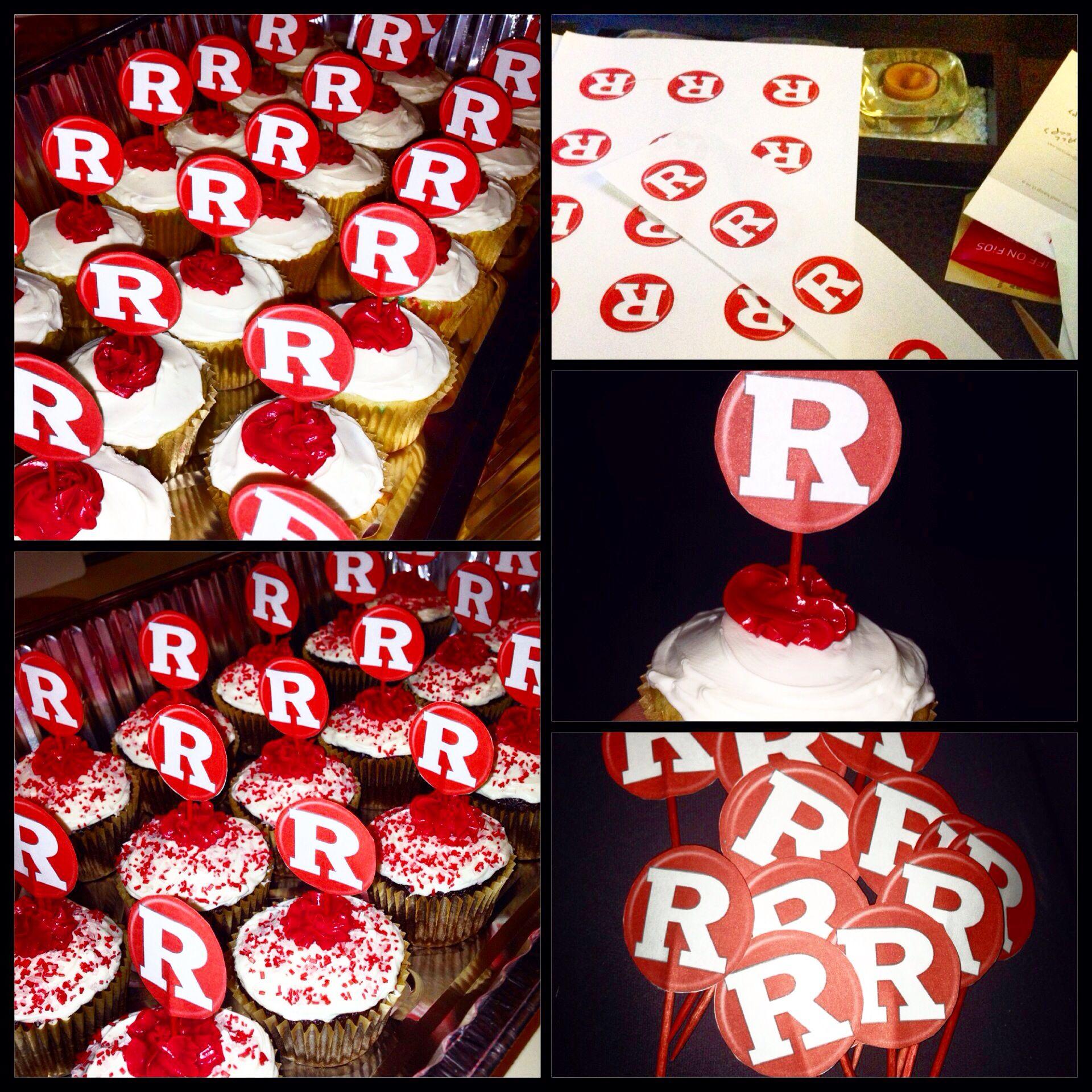 Rutgers Cupcakes Ruathletics Rfamily Rutgers Graduation College Graduation Parties Graduation Party